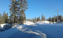 norway vinter Royaltyfri Fotografi