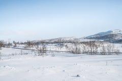 norway vinter Arkivfoton