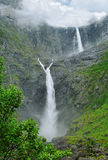 Norway waterfall. Royalty Free Stock Image