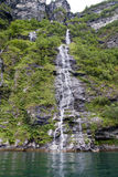 Norway - Waterfall in Geirangerfjord. Europe travel destination Stock Photos