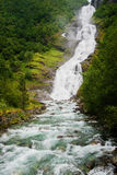 Norway waterfall. Royalty Free Stock Photos
