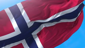 Norway waving flag. Norwegian background royalty free illustration