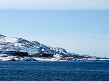 Norway. In Winter arctic Background Stock Images