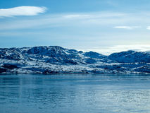 Norway in Winter. Norway Fjord in Winter Polar Circle Stock Images