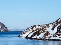 Norway in Winter. Lightshouse Fjord in Norway Winter Stock Photos