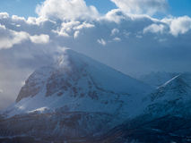 Norway in Winter. Mountain View in Winter Norway Royalty Free Stock Photo