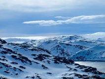 Norway in Winter. Polar Circle Royalty Free Stock Photos