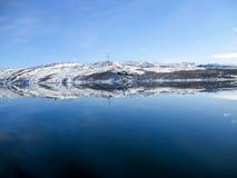 Norway in Winter. Scenic Norway Fjord in Winter Stock Photo