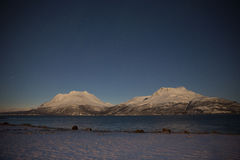 Norway in winter - trip near Tromso Royalty Free Stock Images