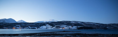 Norway in winter - trip near Tromso Royalty Free Stock Photos