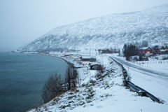 Norway in winter - trip to the island Kvaloya Stock Photos