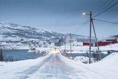 Norway in winter - trip to the island Kvaloya Stock Photography