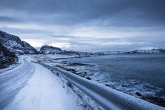 Norway in winter - trip to the island Kvaloya Royalty Free Stock Image