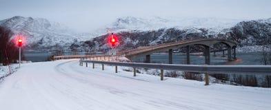Norway in winter - trip to the island Kvaloya Royalty Free Stock Photos