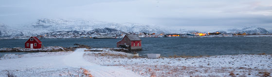 Norway in winter - trip to the island Kvaloya Royalty Free Stock Photo
