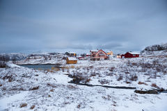 Norway in winter - trip to the island Kvaloya Stock Images