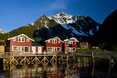 Norway wooden houses Stock Photo