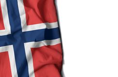 Norway wrinkled flag, space for text Royalty Free Stock Images