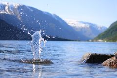 Norways fjord Royalty Free Stock Photography