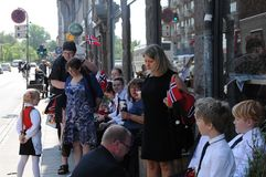 NORWEGAIN CELEBRATE NATIONAL DAY IN DENMARK Royalty Free Stock Photography