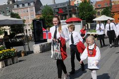 NORWEGAIN CELEBRATE NATIONAL DAY IN DENMARK Royalty Free Stock Images