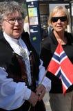 NORWEGAIN VIER NATIONALE DAG IN DENEMARKEN stock afbeelding