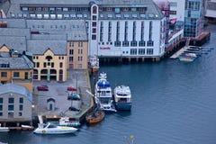 Norwegen - Alesund Stockfotografie