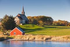 norwegen Alte Edoya-Kirche Stockbilder