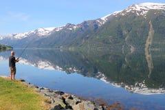 Norwegen-Angeln Lizenzfreie Stockfotografie