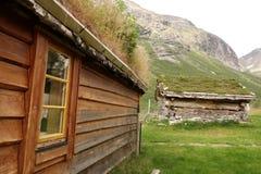 Norwegen - Ansicht des alten Hauses Lizenzfreies Stockfoto