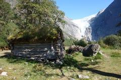 Norwegen - Ansicht des alten Hauses Stockfoto