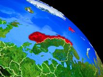 Norwegen auf Planet Erde vektor abbildung