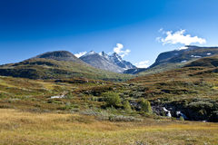 Norwegen - Bergblick Lizenzfreies Stockbild
