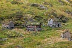 Norwegen - Bergdorf Stockfoto