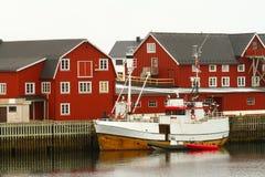 norwegen Boote des Fischers Stockbilder