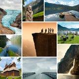 Norwegen-Collage Stockfotos
