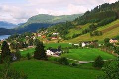 Norwegen-Dorf Lizenzfreies Stockfoto