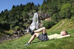 Norwegen draußen wagen lizenzfreie stockbilder