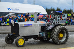 NORWEGEN, FARSTAD- SEPT. 29 2019: Traktorziehen Lizenzfreies Stockfoto