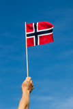 Norwegen-Flagge. Stockfotos