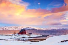 Norwegen im Winter Lizenzfreies Stockfoto
