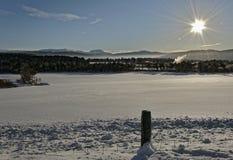 Norwegen im Winter stockbild