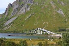 Norwegen-Inselbrücke Stockfotos