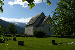 Norwegen-Kirche Stockfotos