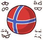 Norwegen-Landball stock abbildung