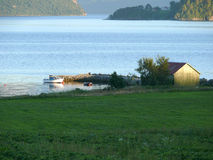 Norwegen-Landschaft Nesjestranda lizenzfreie stockfotos