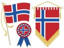 Norwegen-Markierungsfahnen lizenzfreie abbildung