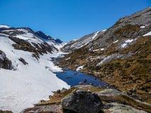 Norwegen - Natur, die nach Winterwinterschlaf aufwacht lizenzfreies stockfoto