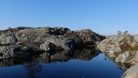 Norwegen-Natur nahe durch Preikestolen stockbilder