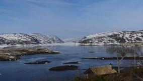 Norwegen-Natur und -seen mit Eis! stockfotos